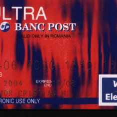 Card Ultra, Banc Post, Visa - Card Bancar