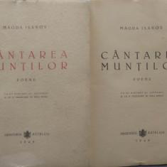 Magda Isanos , Cantarea muntilor , Poeme , 1945 , editia 1 , poeta din Basarabia