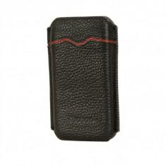 Husa Toc Piele Naturala Apple iPhone 4 4S Black by Yoobao Originala - Husa Telefon Yoobao, Negru