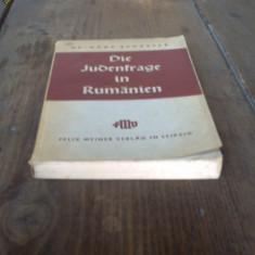 Die Judenfrage in Rumanien - Dr. Hans Schuster - 1939