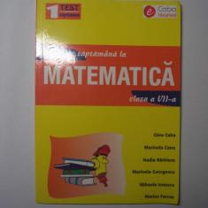 MATEMATICA Un test pe saptamana GINA CABA, CLASA A VII-A, q1 - Culegere Matematica