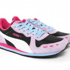 Adidasi Puma Cabana 34716445, ORIGINALI, piele si textil, gri/roz - Adidasi dama Puma, Culoare: Multicolor, Marime: 36, 38