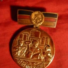 Medalie- 30 Ani DDR -metal si email, d=3, 3 cm
