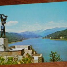 carte postala  JUDETUL ARGES - LACUL DE ACUMULARE AL HIDROCENTRALEI DE PE ARGES. VIDRARU, CIRCULATA, 1975