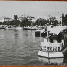 CARTE POSTALA TULCEA - VEDERE DIN PORT, SCRISA - Carte Postala Dobrogea dupa 1918