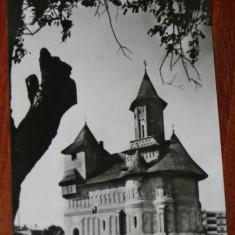 carte postala  judetul GALATI - GALATI.  BISERICA FORTIFICATA PRECISTA, CIRCULATA, 1968