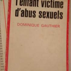 CARTE IN FRANCEZA-L'ENFANT VICTIME D'ABUS SEXUELS