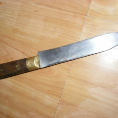CUTIT VECHI, Metal, alama si lemn - Briceag/Cutit vanatoare