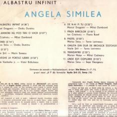 Disc-Angela Similea-Un albastru infinit - Muzica Pop