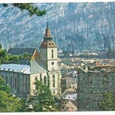 Carte postala- BRASOV-Biserica Neagra - Carte Postala Transilvania dupa 1918