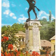 Carte postala-SLATINA Statuia E.Teodoroiu - Carte Postala Muntenia dupa 1918
