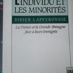 CARTE IN FRANCEZA-L'INDIVIDU ET LES MINORITES