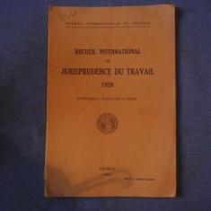 CODUL INTERNATIONAL .DE DREPTUL MUNCII .IN FRANCEZA DIN 1928. - Carte Codul penal adnotat