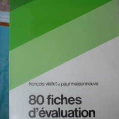 CARTE IN FRANCEZA-80 FICHES D'EVALUATION