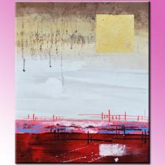 Pictura abstracta (25) - ulei pe panza, 60x50cm