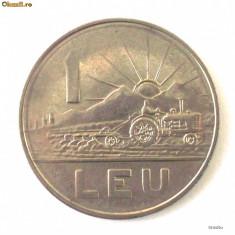 ROMANIA 1 LEU 1966 RSR FRUMOS ** - Moneda Romania