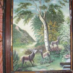 TABLOU fara RAMA ,VECHI,PICTURA ,peisaj,,PADUREA  MUNTOASA,,