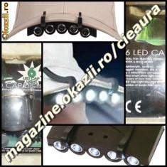 MINI LANTERNA 6 LED-uri SAPCA COZOROC REZISTENTA LA APA VANATORI PESCARI CAMPING