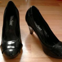 Pantofi dama cu toc marimea 38 - Pantof dama, Negru