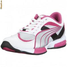Adidasi Puma Cell running 18492101, ORIGINALI, alb/roz, textil - Adidasi dama Puma, Marime: 38.5