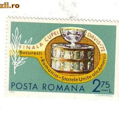 TIMBRU-FINALA CUPEI DAVIS 1972 - Timbre Romania