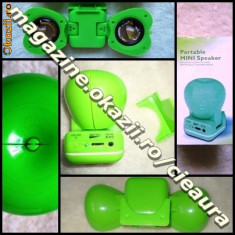 BOXE DIFUZOARE STEREO PORTABILE AMPLIFICATOR LAPTOP PC IPOD MP3 MP4 TELEFON