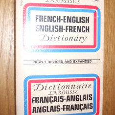 FRANCAIS-ANGLAIS ** ANGLAIS-FRANCAIS  --- Dictionnaire Larousse  [ editat in 1973, are  565 pagini ]