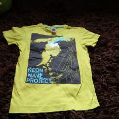 Tricou pentru copii, marimea 122- 128 cm, Marca C&A, Culoare: Verde, Unisex