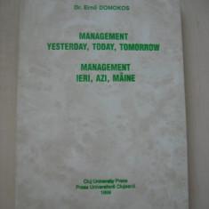 ERNO DOMOKOS - MANAGEMENT IERI, AZI, MAINE - Carte Management