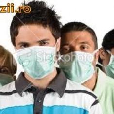 MASCA PROTECTIE RESPIRATORIE-MASCA MEDICALA 3 PLIURI, nas, gura, TRANSPORT GRATUIT - Masca fata