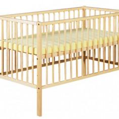 Patuturi Copii Din Lemn KLUPS RADEK X Natur - Patut lemn pentru bebelusi Klups, 120x60cm
