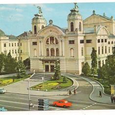 Carte postala(ilustrata)-CLUJ NAPOCA-Teatrul National - Carte Postala Transilvania dupa 1918, Circulata