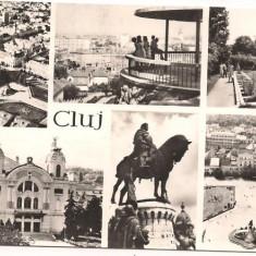 Carte postala(ilustrata)-CLUJ NAPOCA - Carte Postala Transilvania dupa 1918, Circulata