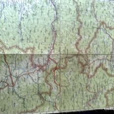 Harta Turing Clubul Roman - interbelica - nr 16 - vatra dornei , toplita , gheorgheni