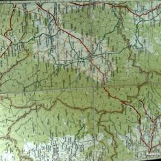 Harta Turing Clubul Roman - interbelica - nr 28 - Targul Ocna - Targul Sacuesc