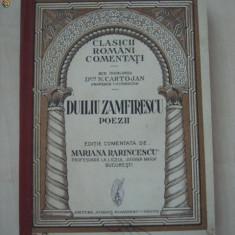 DUILIU ZAMFIRESCU - POEZII * CLASICII ROMANI COMENTATI {1934 , cu ilustratii}