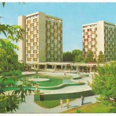 Carte postala-MAMAIA-Hotelurile Patria si National - Carte postala tematica, Circulata, Printata, Europa