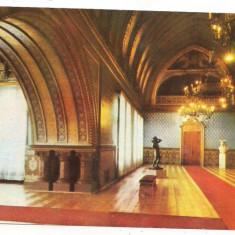 Carte postala-IASI-Palatul Culturi-Sala Voievozilor - Carte postala tematica, Circulata, Printata, Europa