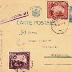CARTE POSTALA CENZURATA, EMIS TIMISOARA 20.01.1942-OCPP 3 - Plic Papetarie