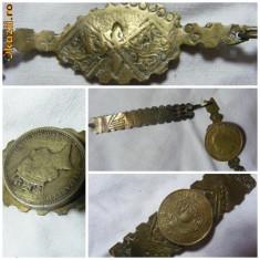 COLIER VECHI cu banuti, ARAMA/ALAMA, Model antic,