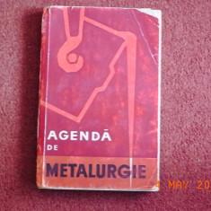 Agenda de metalurgie - Carti Metalurgie