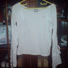 Bluza Nike - Bluza dama Nike, XS, Maneca lunga, Alb, Bumbac