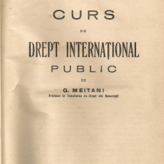 G. Meitani - Curs de drept international public - 1930. - Carte Drept international