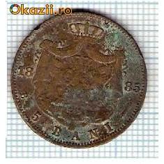 14 Moneda 5 Bani 1885 B -starea care se vede -ceva mai buna decat scanarea - Moneda Romania