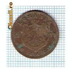 19 Moneda 2 Bani 1879 B -starea care se vede -ceva mai buna decat scanarea - Moneda Romania