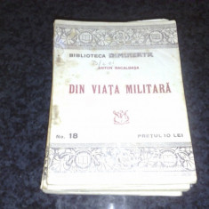 Anton Bacalbasa - Din viata militara - col. Biblioteca Dimineata nr 18 - interbelica