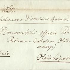 SCRISOARE VECHE 1865 GHERLA