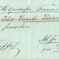 SCRISOARE VECHE 1858 ALBA -IULIA