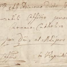 SCRISOARE VECHE 1859 GHERLA