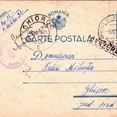 CARTE POSTALA CENZURATA. CIRCULATA LA GHIOROC IN 1941-OCPP 35 - Plic Papetarie
